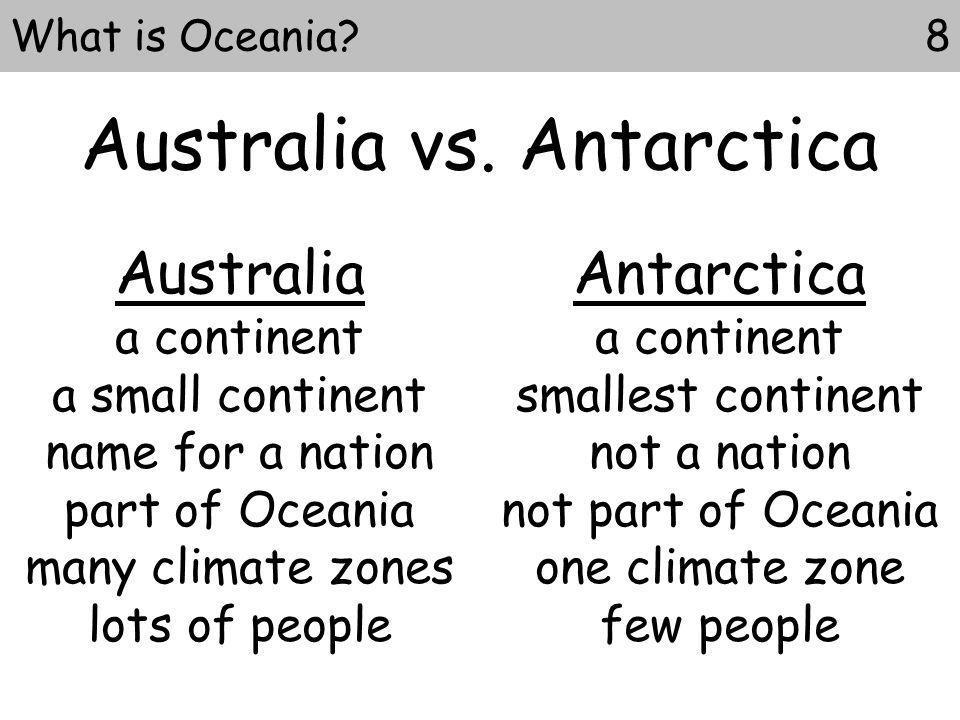 Australia vs. Antarctica