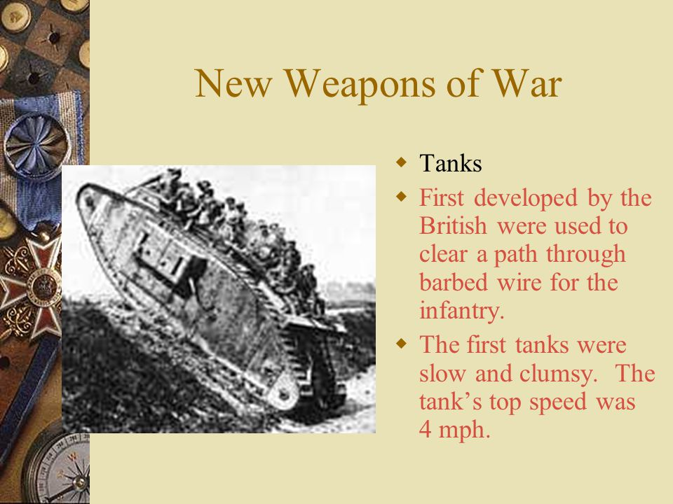 New Weapons of War Tanks