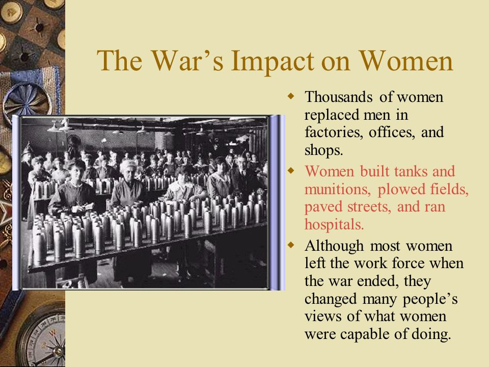 The War's Impact on Women