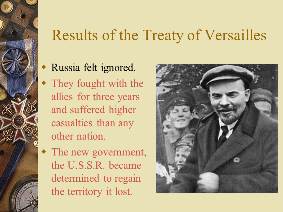 Results of the Treaty of Versailles