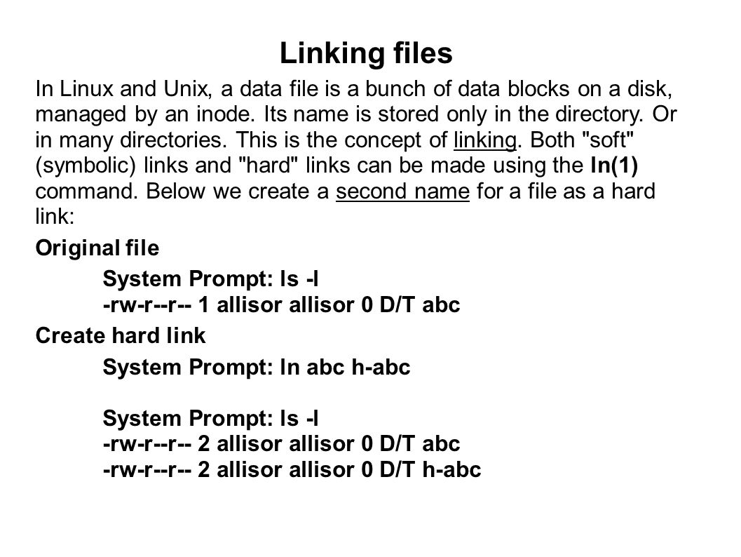 Linking files
