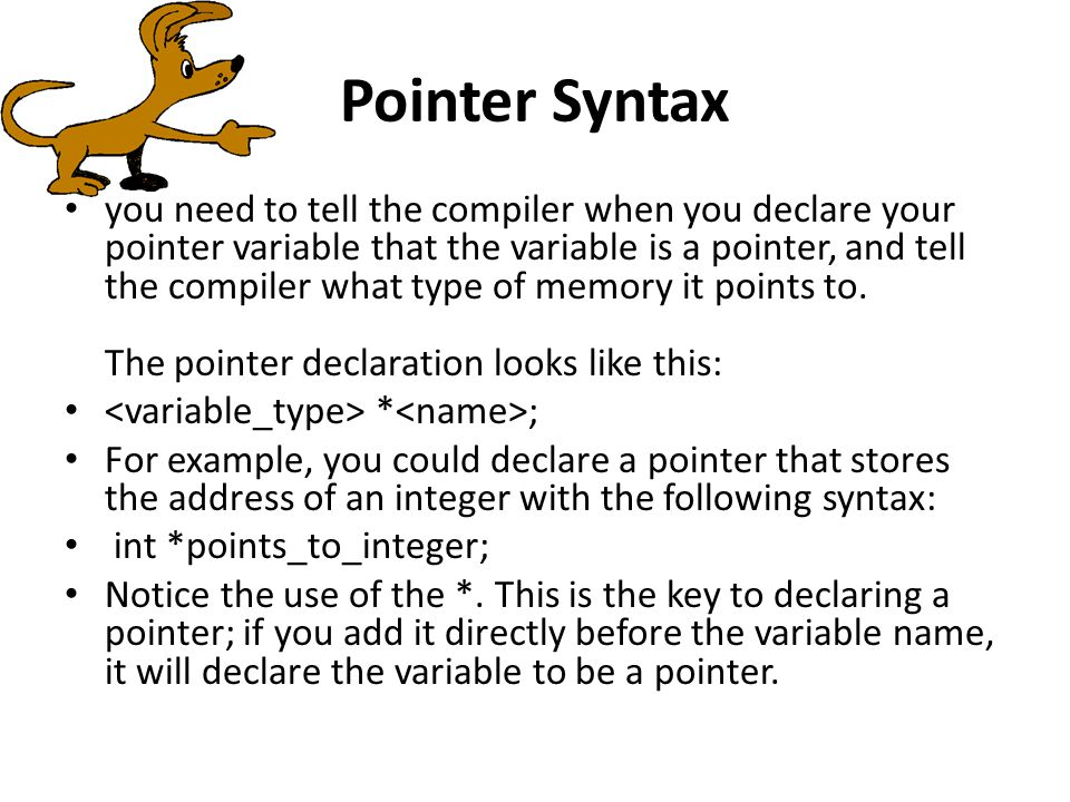 Pointer Syntax