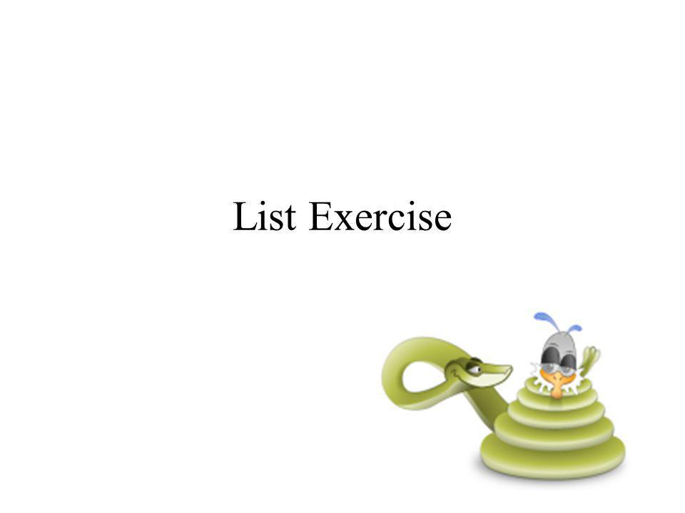 List Exercise