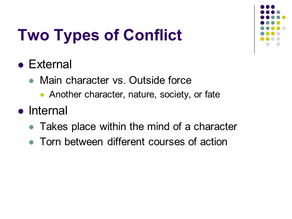 Two Types of Conflict External Internal