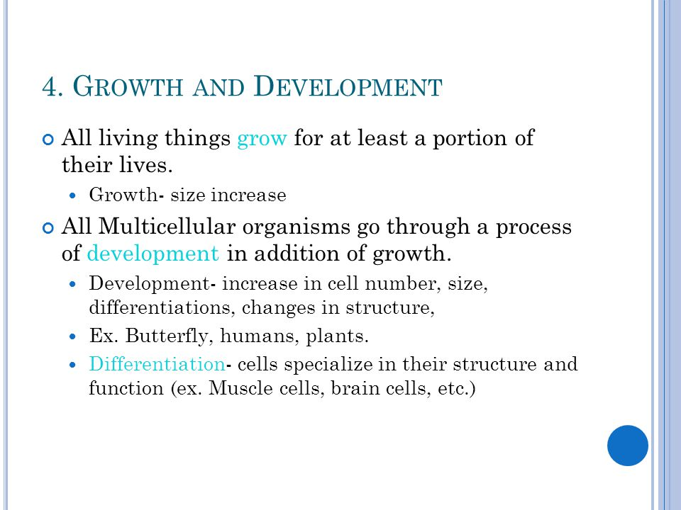 4. Growth and Development
