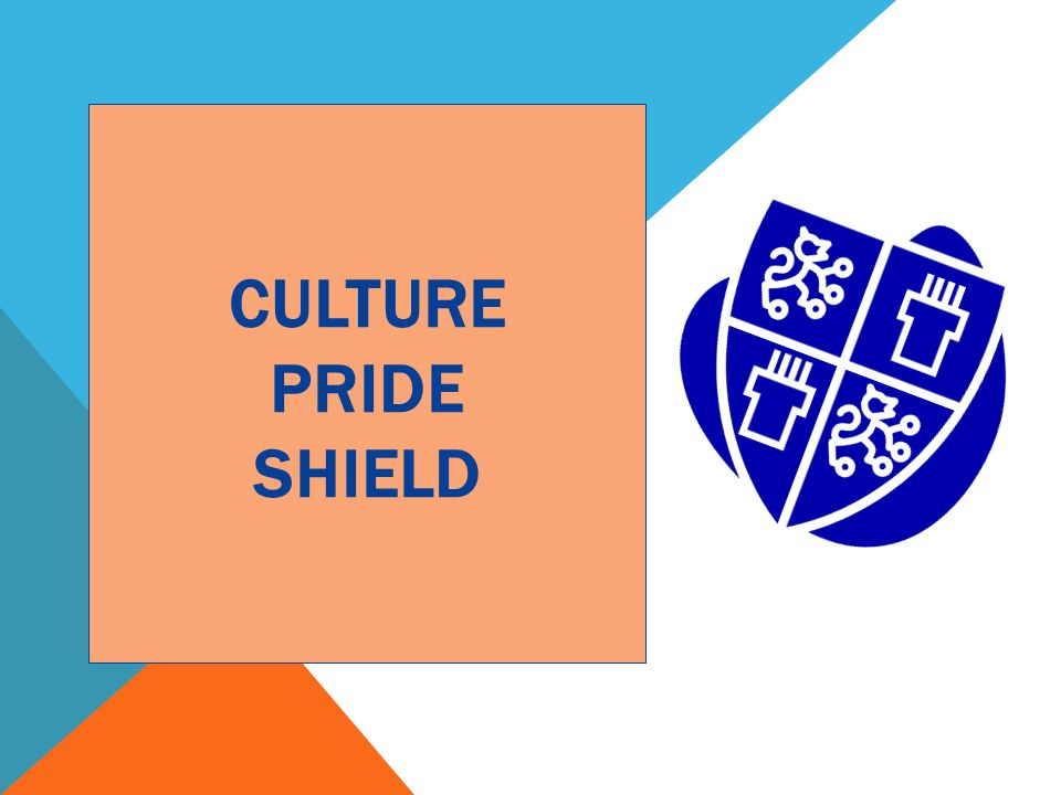CULTURE PRIDE SHIELD Review this activity with participants. Let them know this is a good activity for family night.