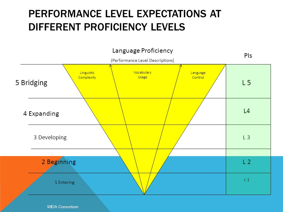 Performance Level Expectations at Different Proficiency Levels