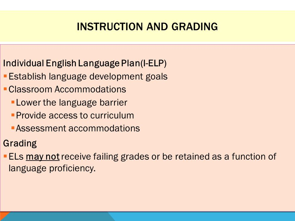 Instruction and Grading