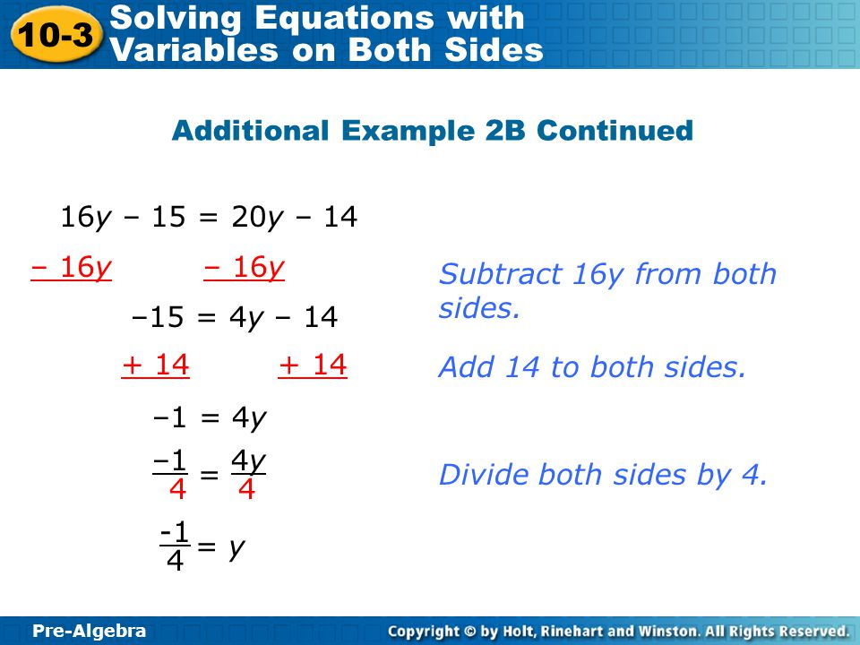 Additional Example 2B Continued