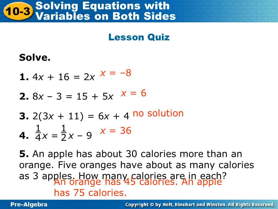 how to solve equations with 4 variables