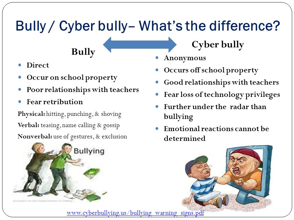 Bully / Cyber bully– What's the difference