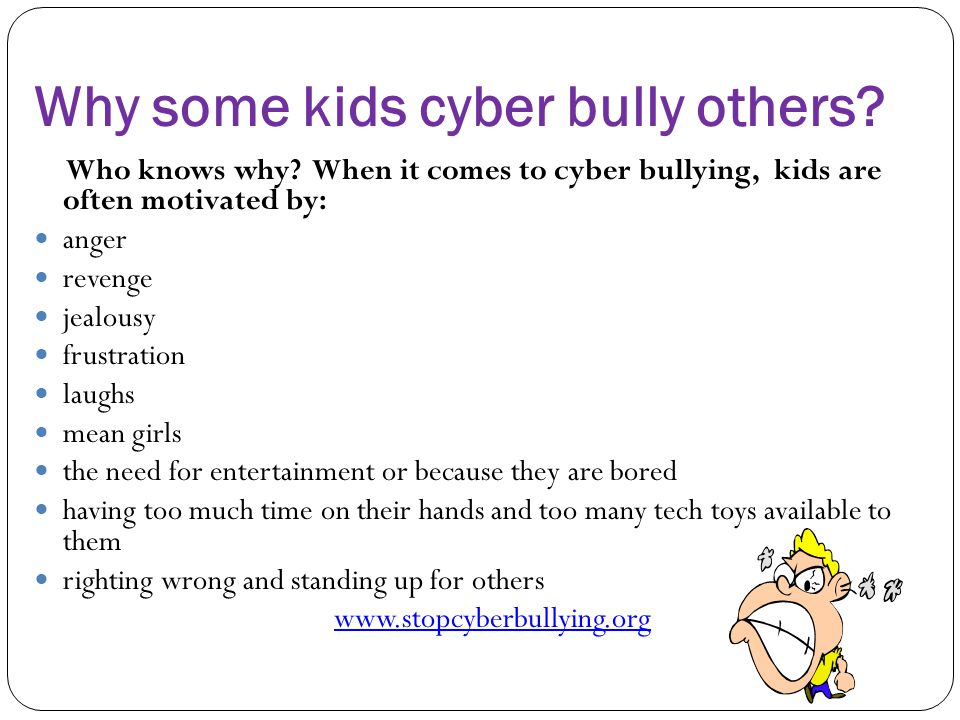 Why some kids cyber bully others