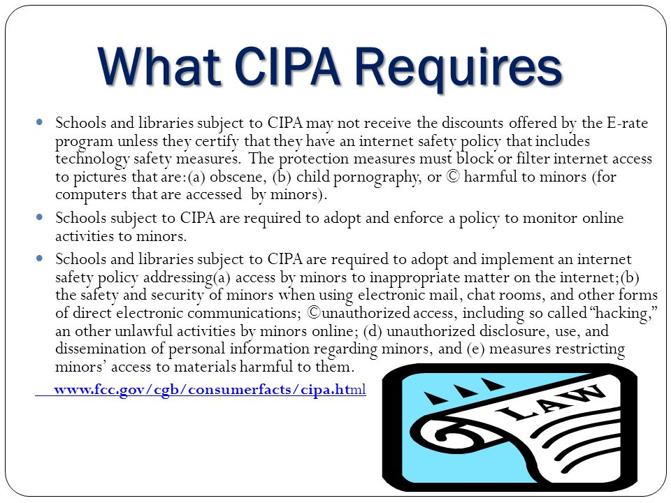 What CIPA Requires