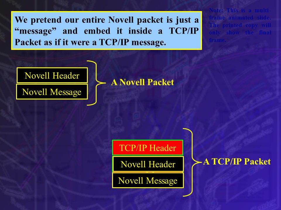 A Novell Packet A TCP/IP Packet