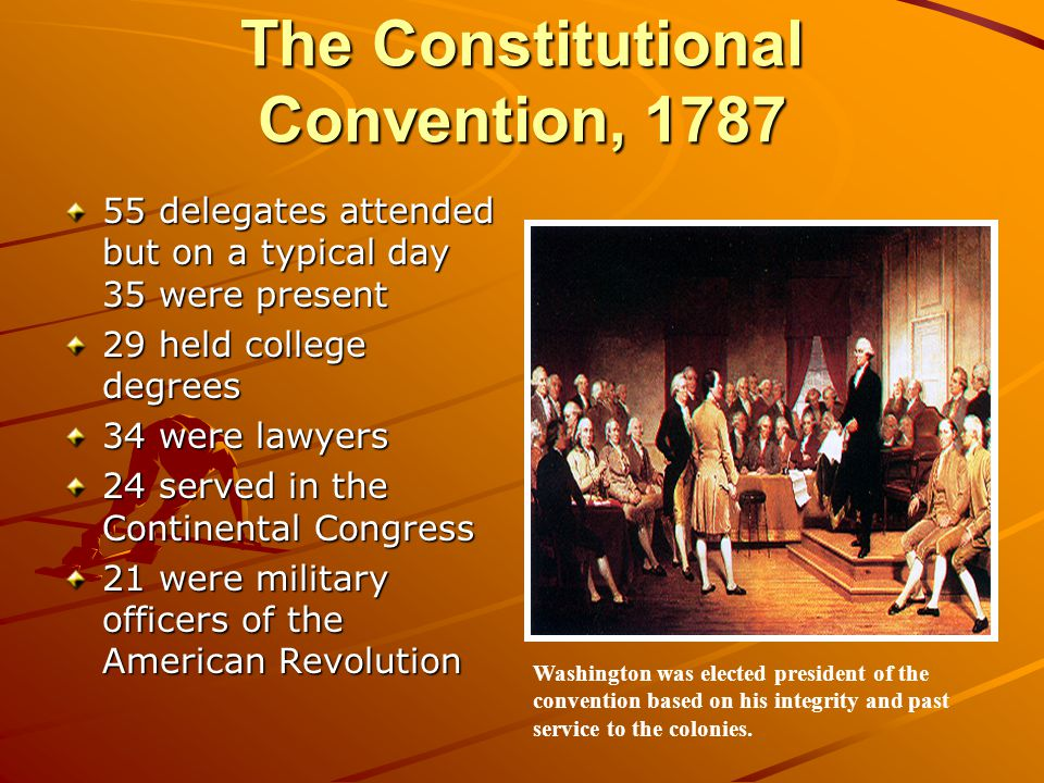 The Constitutional Convention, 1787