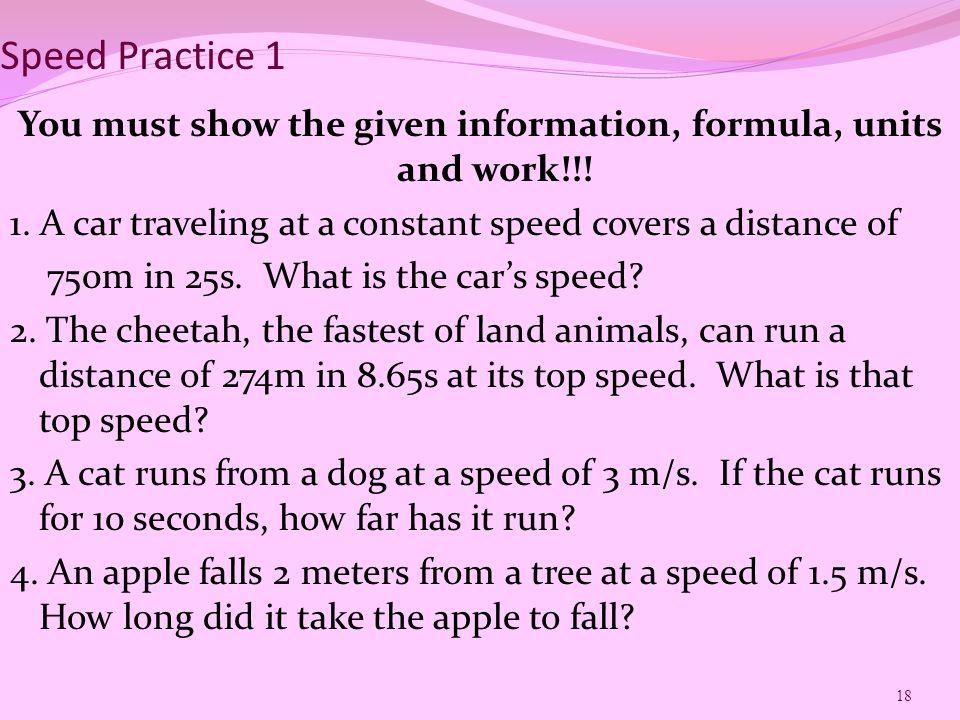 Speed Practice 1