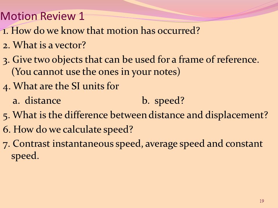 Motion Review 1