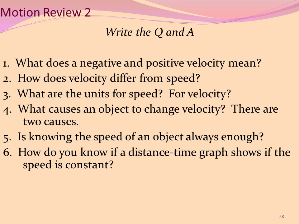 Motion Review 2