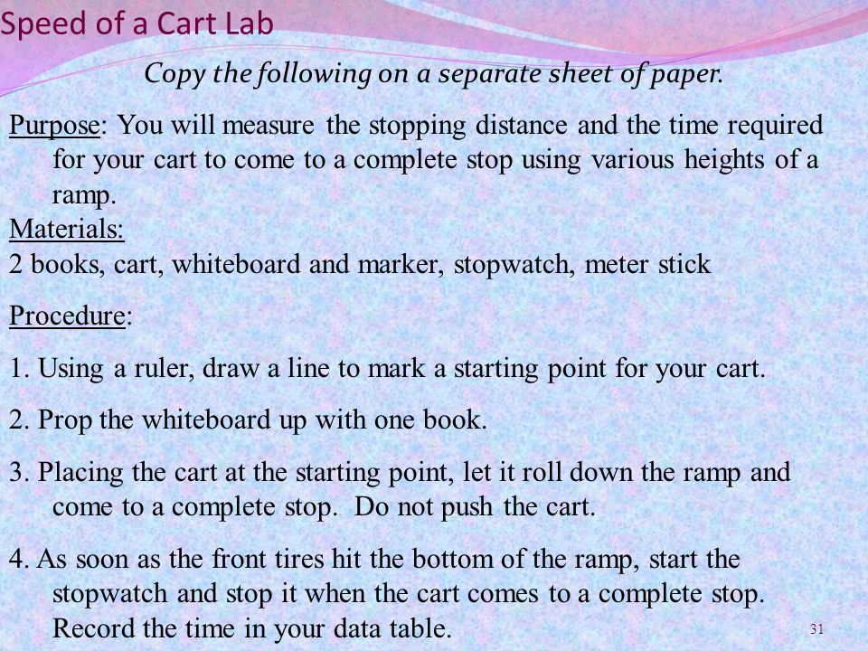 Copy the following on a separate sheet of paper.