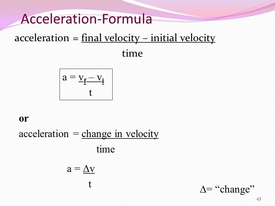 Acceleration-Formula