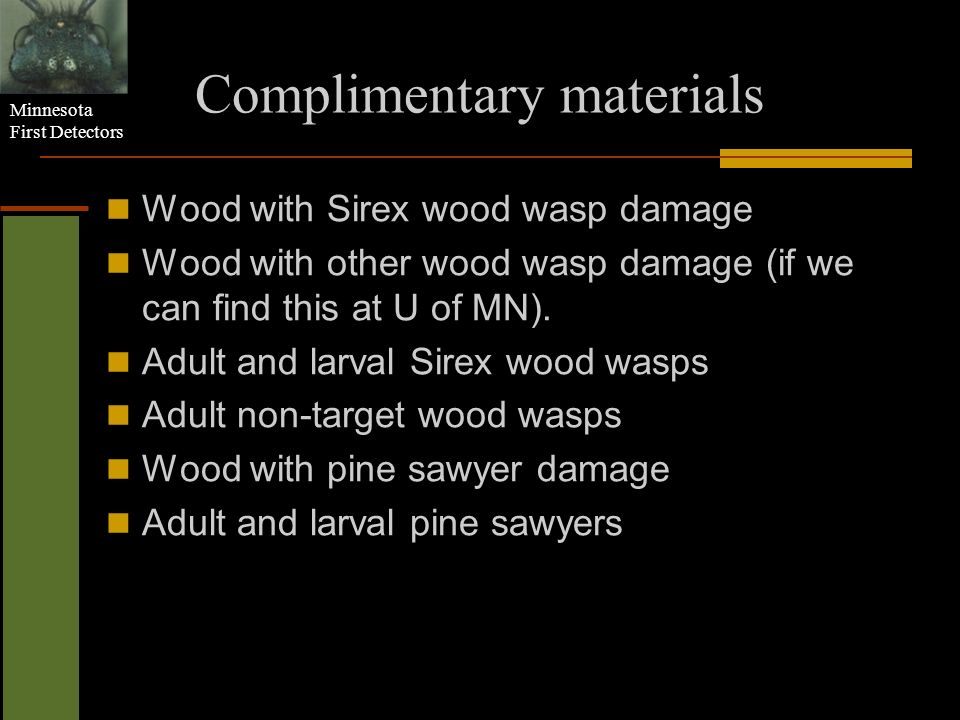 Complimentary materials