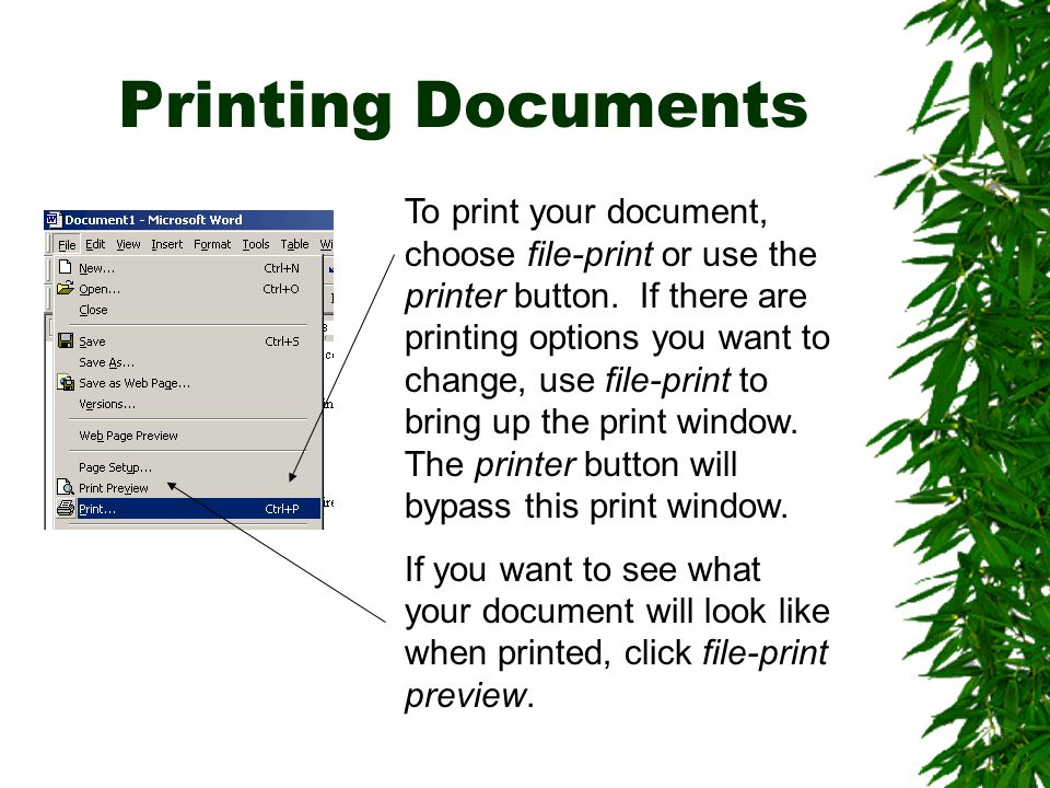 Printing Documents