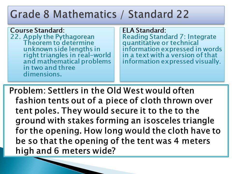 Grade 8 Mathematics / Standard 22