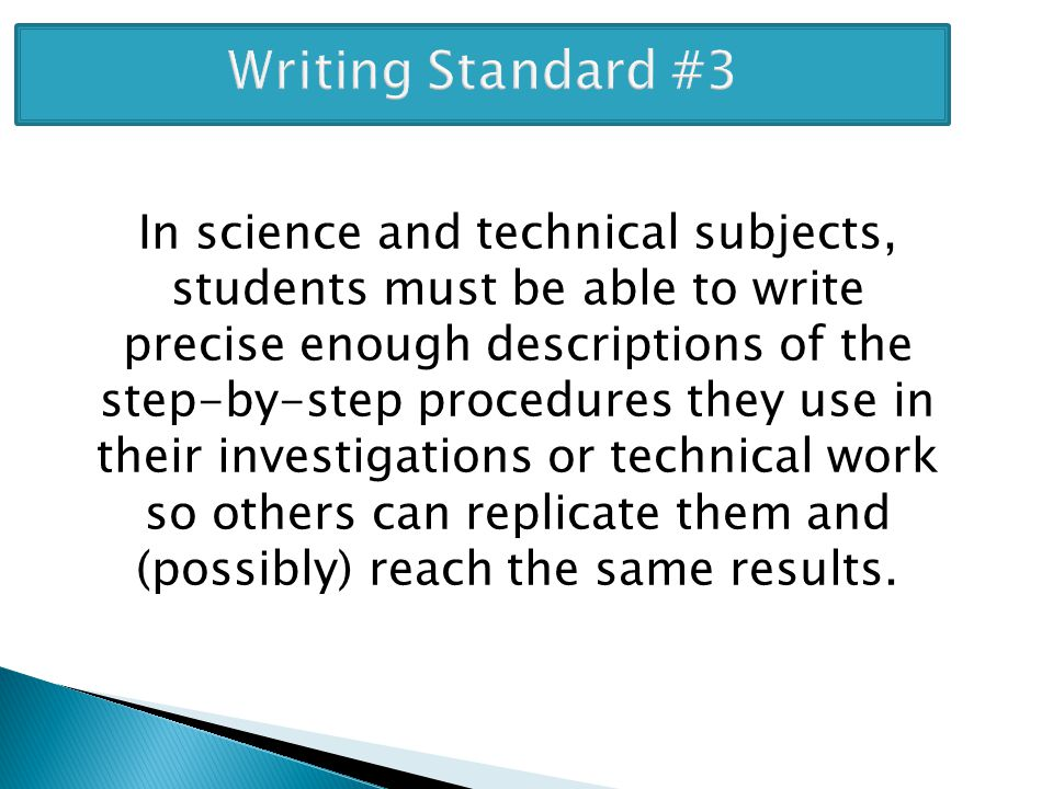 Writing Standard #3