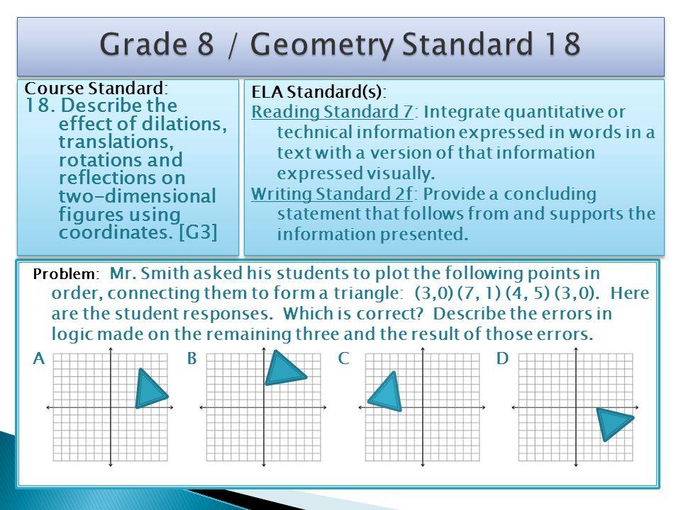 Grade 8 / Geometry Standard 18