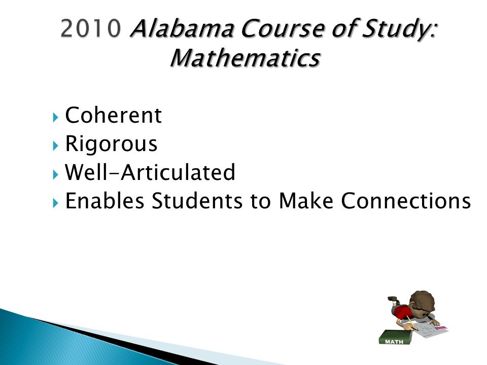 2010 Alabama Course of Study: Mathematics