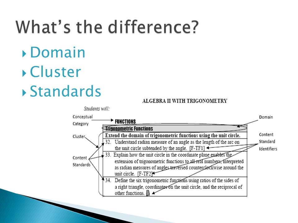 What's the difference Domain Cluster Standards
