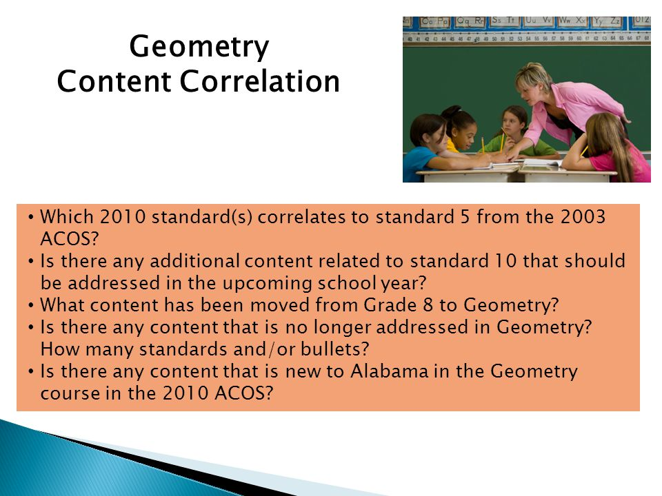 Geometry Content Correlation