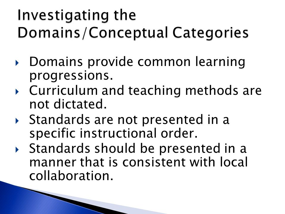 Investigating the Domains/Conceptual Categories
