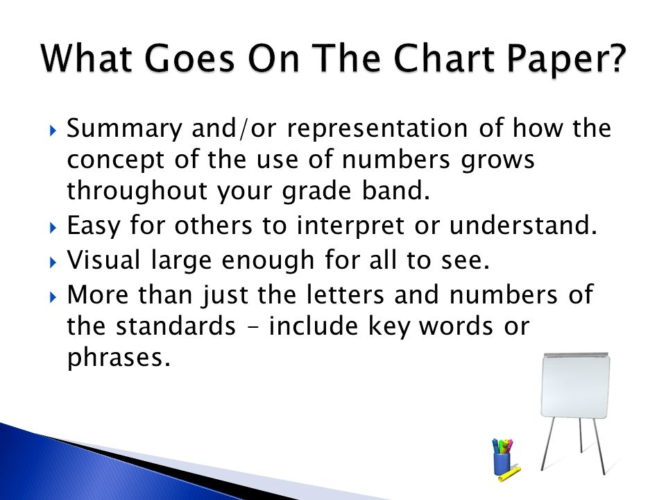 What Goes On The Chart Paper
