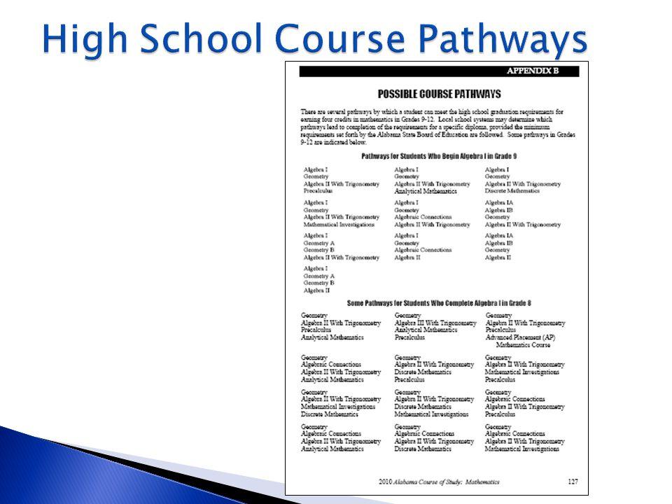 High School Course Pathways
