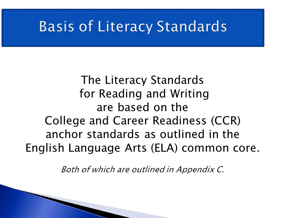 Basis of Literacy Standards