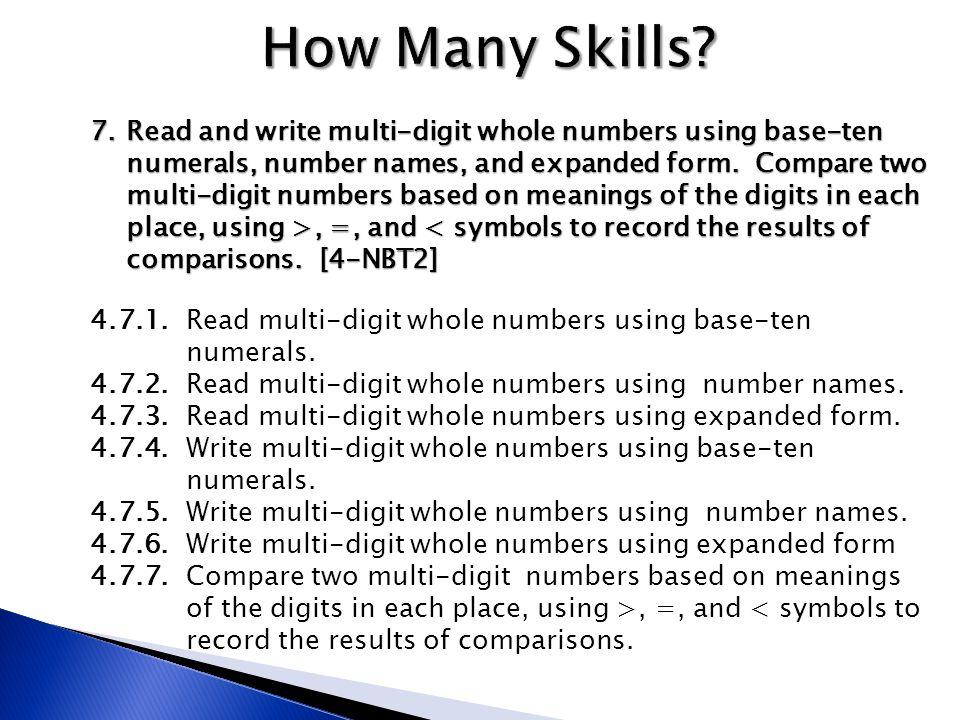 How Many Skills