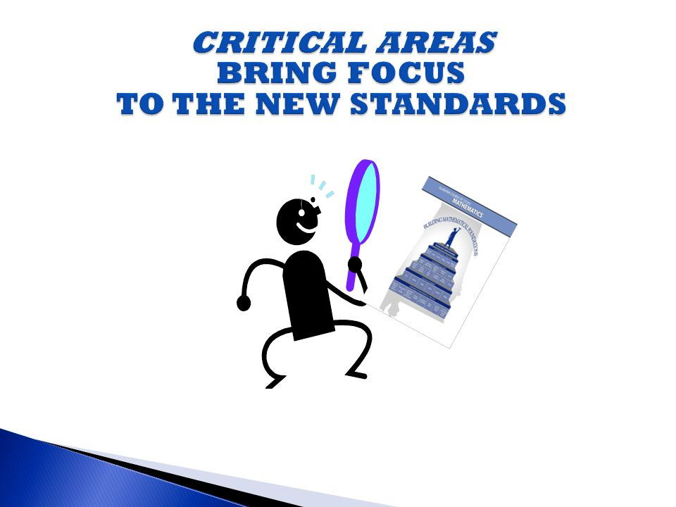 CRITICAL AREAS BRING FOCUS TO THE NEW STANDARDS
