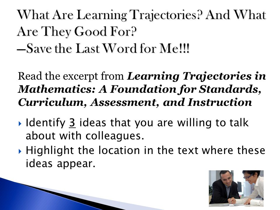 What Are Learning Trajectories. And What Are They Good For