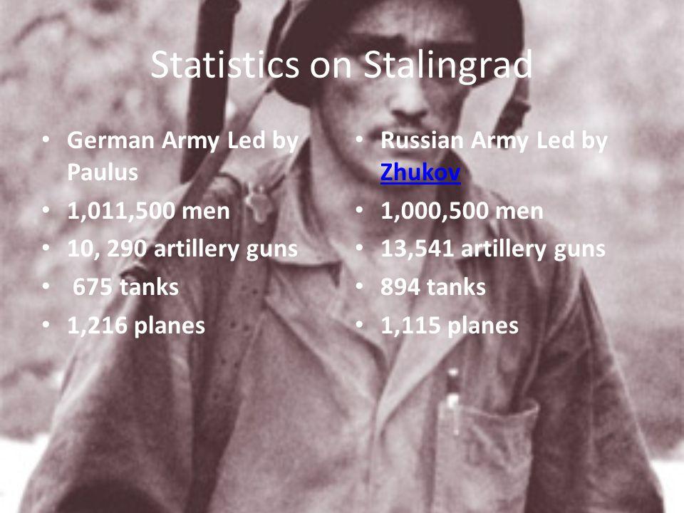 Statistics on Stalingrad