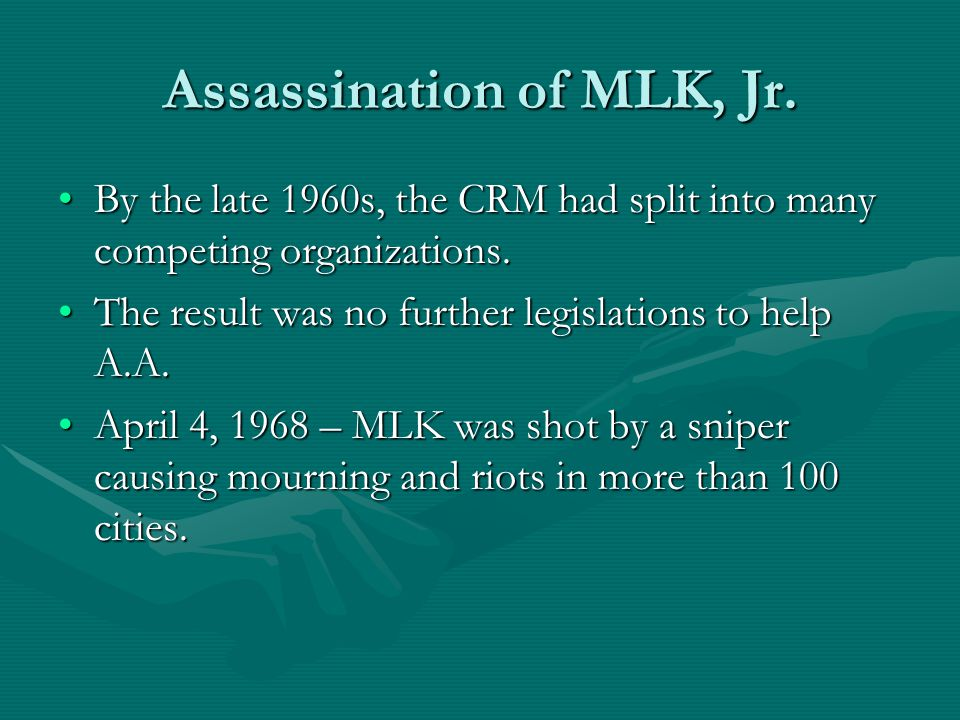 Assassination of MLK, Jr.