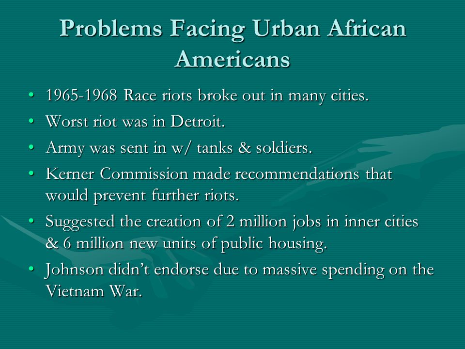 Problems Facing Urban African Americans