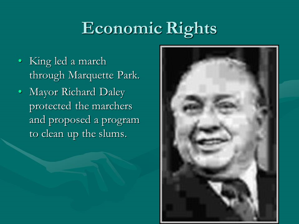 Economic Rights King led a march through Marquette Park.