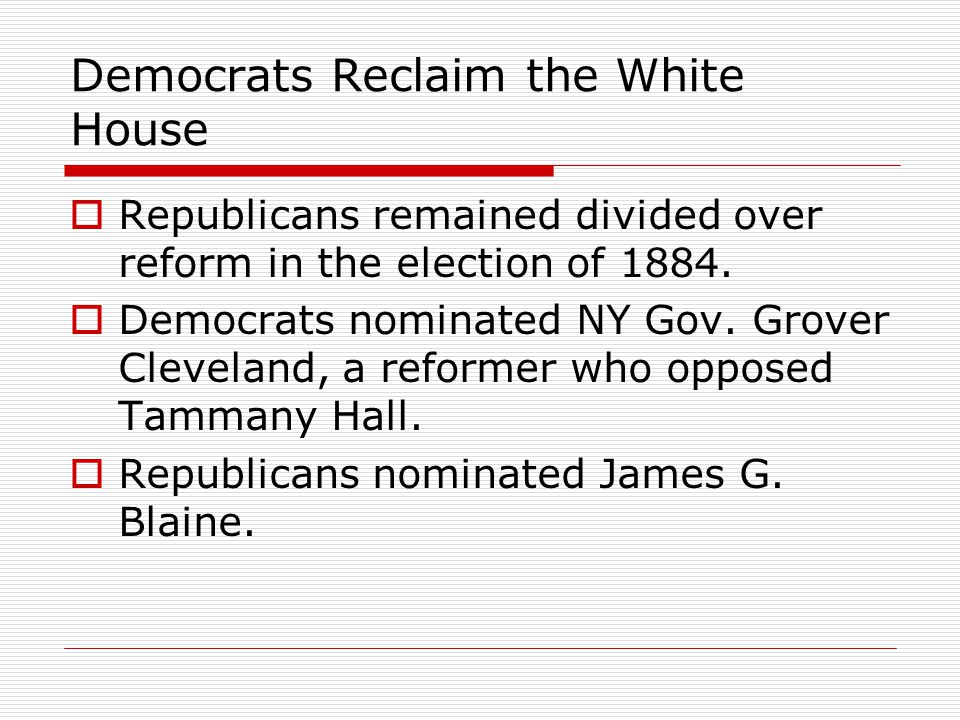 Democrats Reclaim the White House