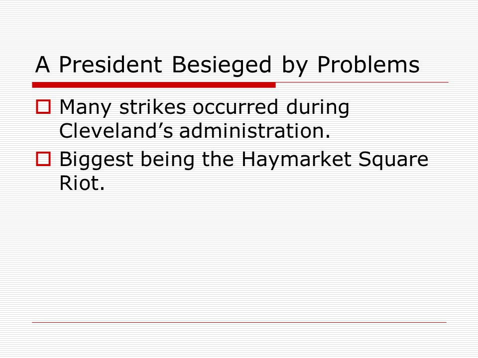 A President Besieged by Problems