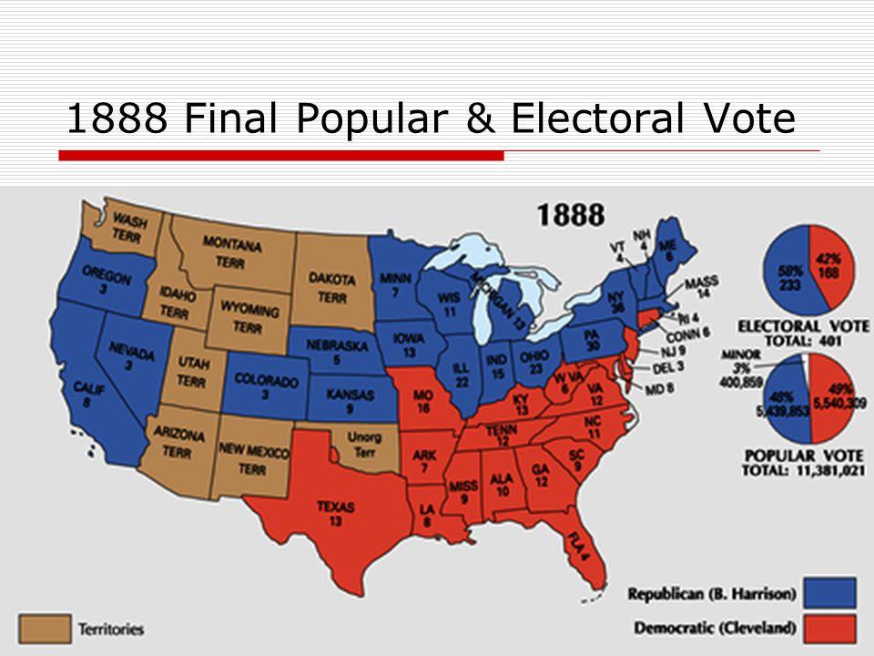 1888 Final Popular & Electoral Vote