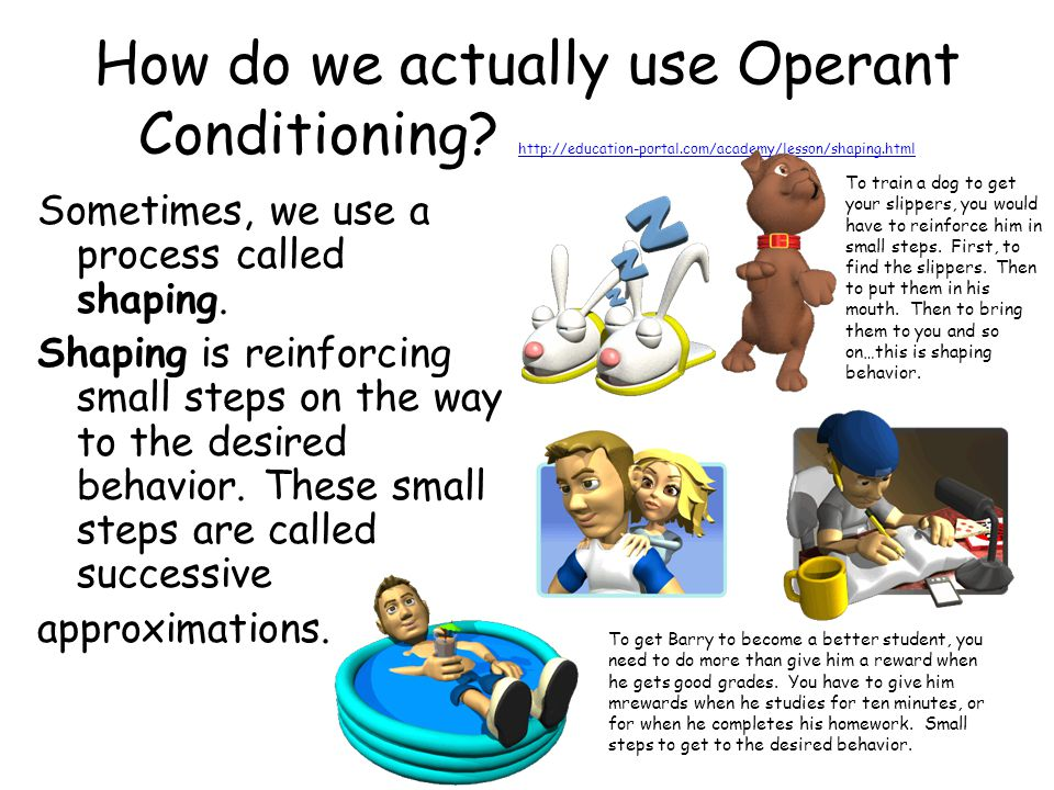 How do we actually use Operant Conditioning. http://education-portal