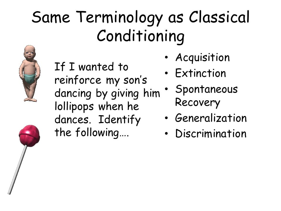 Same Terminology as Classical Conditioning