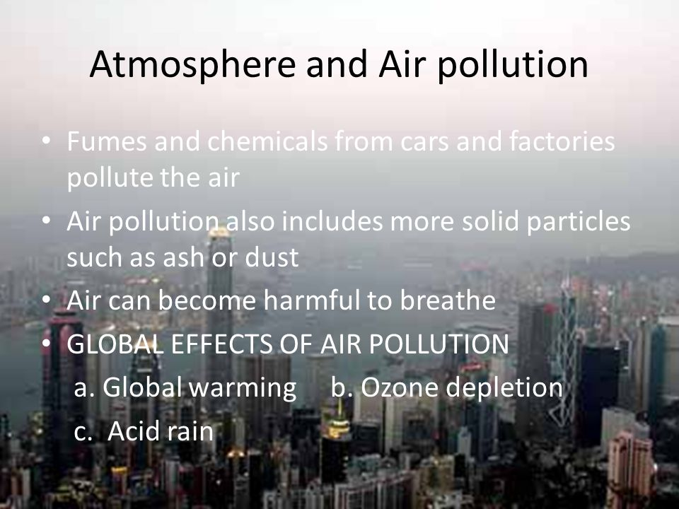 Atmosphere and Air pollution