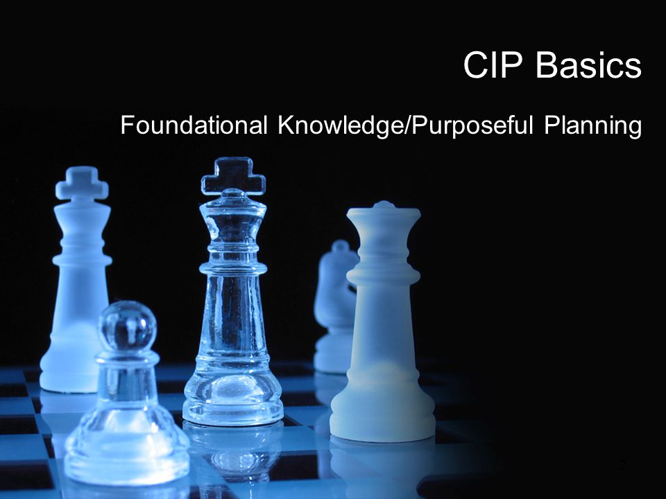 Foundational Knowledge/Purposeful Planning